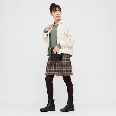 ユニクロ GIRLS フランネルチェックスカートパンツ